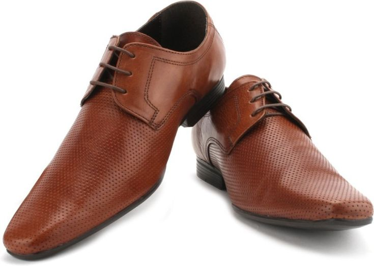 Make a dramatic entrance at your next formal function and impress the rest by wearing these brown formal shoes from Red Tape.
