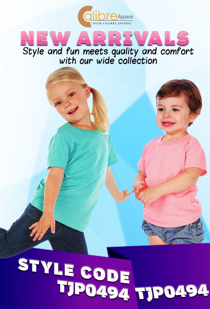 Kavio Toddlers Crew Neck Short Sleeve Tee Jersey