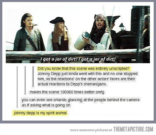 Johnny Depp is a genius…