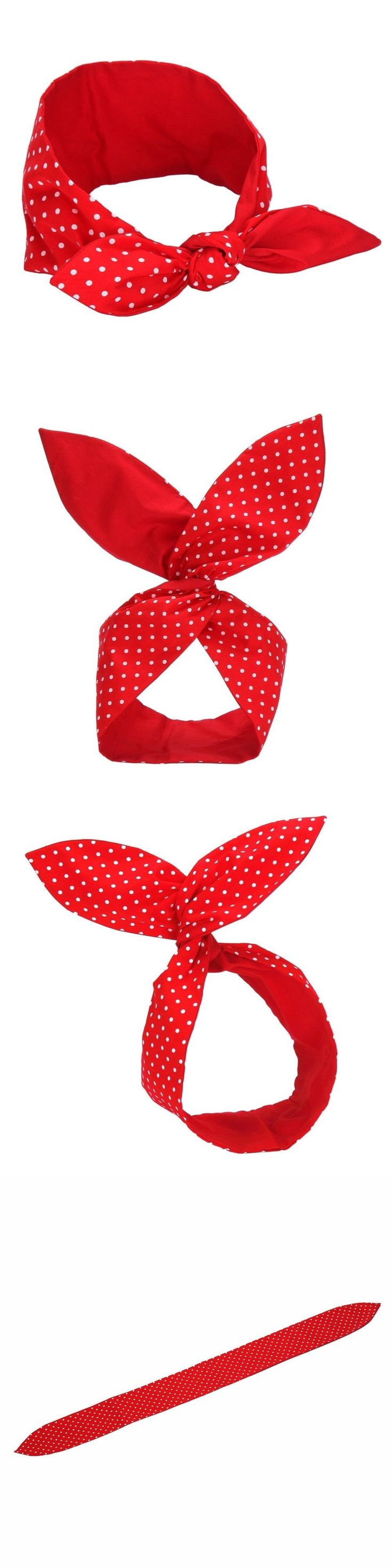 Scarves and Bandanas 169281: Classy Rosie The Riveter Polka Dot Red Hair Band Halloween Women S Costume -> BUY IT NOW ONLY: $53.13 on eBay!