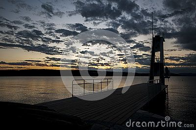 The Ingierstrand Diving Tower Silhouette