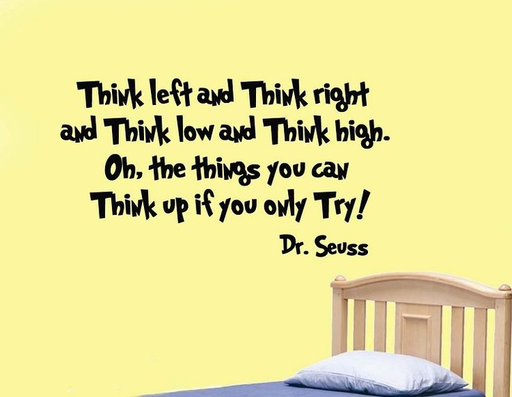 Dr Seuss Wall Decals. Interesting Dr Seuss Thing Quote Decal Wall ...