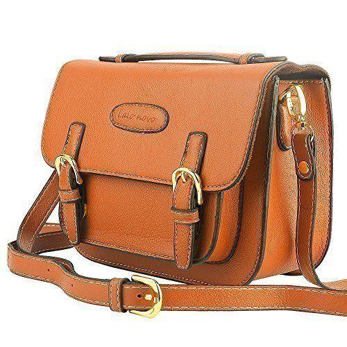 Mini 8 Instant Camera Accessories Case - Lalonovo Retro Vintage PU Leather Bag for Fujifilm Instax Mini 8/ Mini 7s/ Mini 25/ Mini 50s/ Mini 90/ Instant Film Camera with Shoulder Strap - Brown
