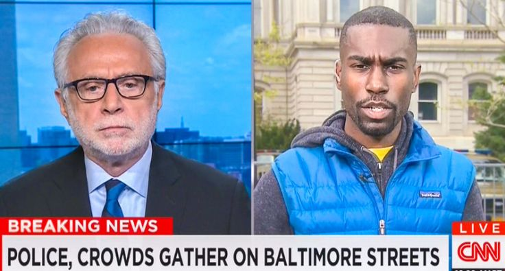 Activist smacks down Wolf Blitzer: 'You are suggesting broken windows are worse than broken spines'