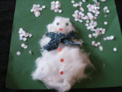Snowman Collage Craft for Preschool Kids