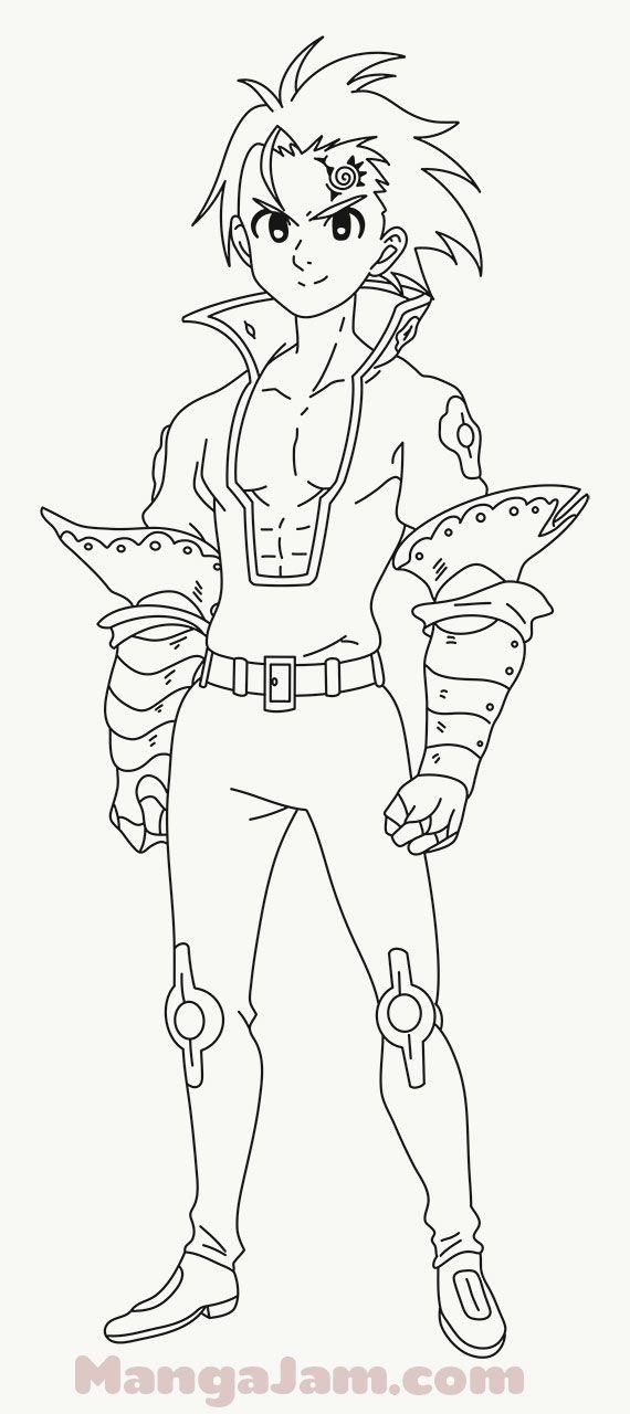 How To Draw Zeldris From Nanatsu No Taizai Nanatsu Desenhos 7