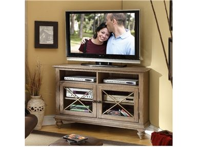 Riverside Furniture Coventry Corner TV Console In Weathered Driftwood    32444   Lowest Price Online On All Riverside Furniture Coventry Corner TV  Console In ...