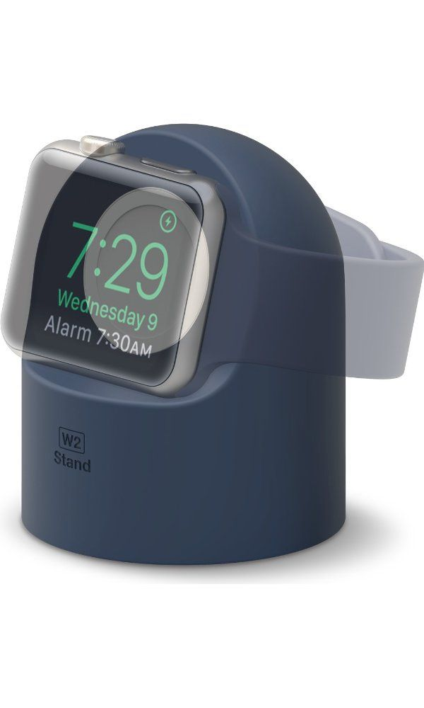 Elago® W2 Stand [Jean Indigo] - [Supports Nightstand Mode][Cable Management][Scratch-Free Silicone] - for Apple Watch Series 1 and 2 Best Price