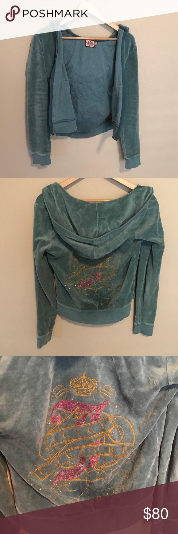 Juicy velour jacket Dark green juicy velour track jacket Juicy Couture Jackets & Coats