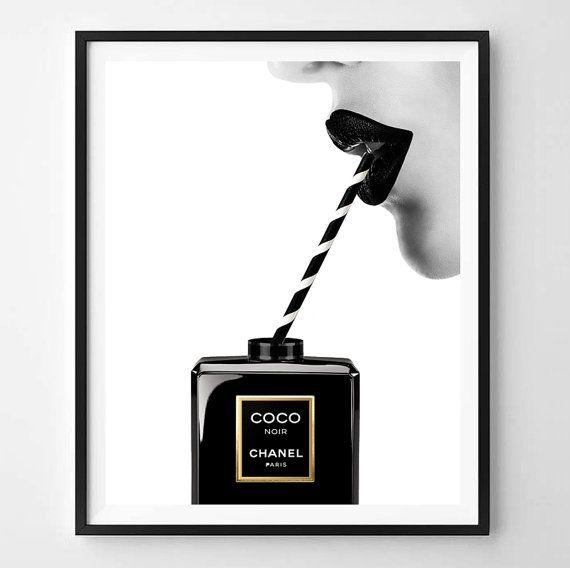 Chanel afdrukken, afdrukken, Fashion straatkunst, Chanel, minimalistische, digitale kunst, parfum, Printable, digitaal afdrukken Instant Download 11 x 14, 16 x 20, A4