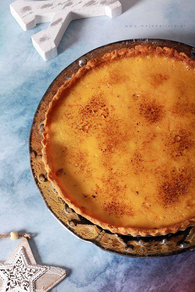 Tarta gruszkowo-pomarańczowa z warstwą gorzkiej czekolady // Pear and orange tart with a dark chocolate. Perfect for Christmas