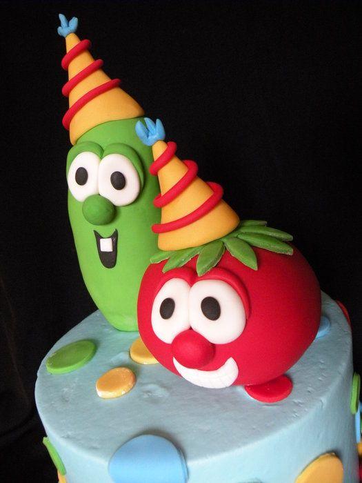 veggie tales cake ideas - Google Search