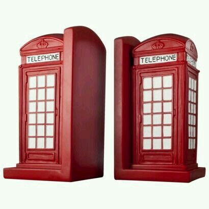 British Telephone Booth Book Ends