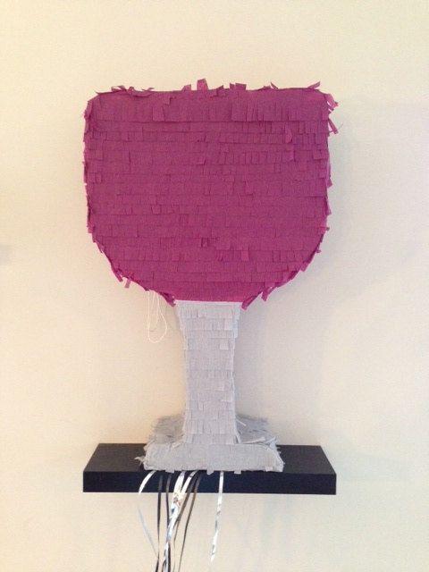 Wine Glass Piñata on Etsy. Custom made! Www.facebook.com/pinatasplus1