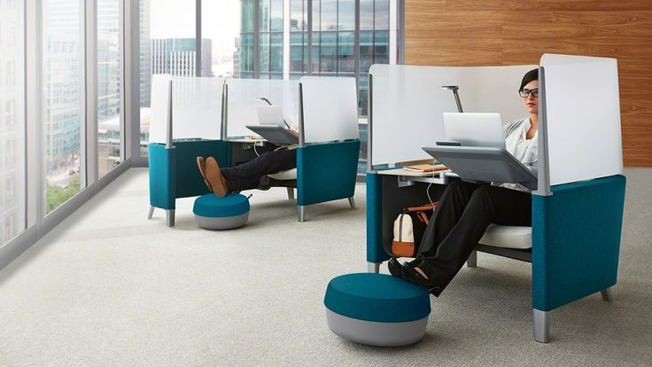private workstations, privacy, open office, focus, concentration, quiet places