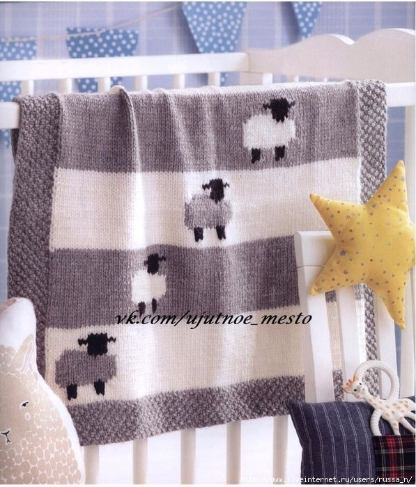 341 best mantas bebe con dos agujas images on Pinterest | Mantas de ...