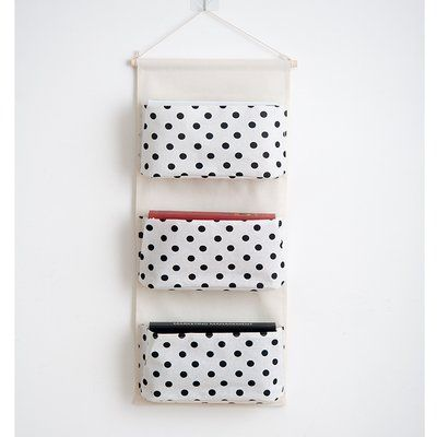 ... Tasche,Zeitschrift Organizer Tür Hängend Hängenden Beutel Wand  Hängenden Tasche,Wand Taschen Für Badezimmer Wohnzimmer Cm Grau (weiss  Punkt)