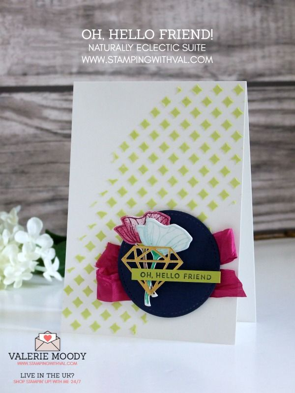 Create gorgeous cards every time with Stampin' Up! Embossing Paste & Oh So Eclectic stamp set! Order yours here at Stamping With Val - Valerie Moody, UK Stampin Up Demo