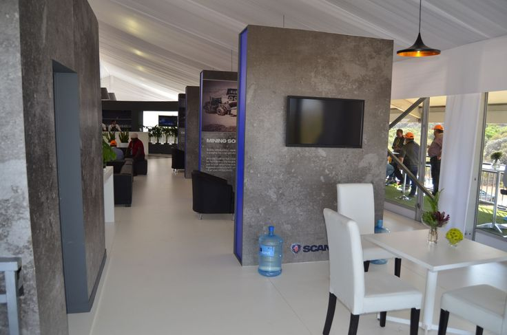 Scania at Gerotek Test Facilities - Double Decker Marquee, First floor hospitality area - OCT 2016