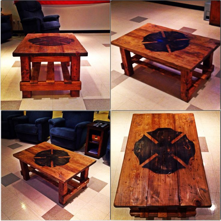Love this coffee table minus the firefighter symbol 214 best Firefighter images on Pinterest   Fire department  Fire  . Firefighter Room Decor. Home Design Ideas