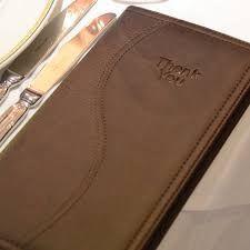 Image result for leather restaurant bill folders
