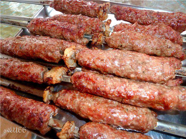 Люля-кебаб на мангале ( из серии Айда на пикник) пошаговый рецепт с фотографиями