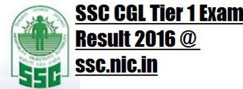 SSC CGL Tier 1 Exam Result 2016 @ ssc.nic.in