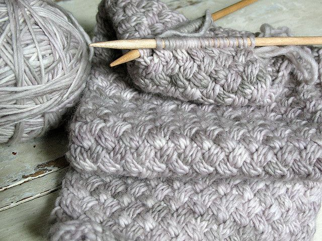 Free Knitting Pattern For Basket Weave Scarf : I love this stitch.. see http://www.ravelry.com/patterns/library/malabrigo-we...