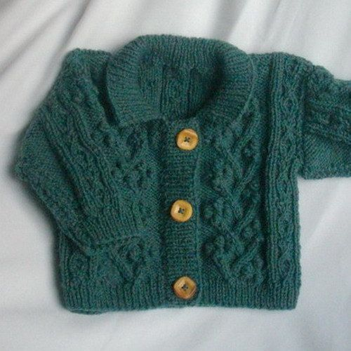 Rowan Bobble Jacket for baby or toddler PDF knitting by PurplePup