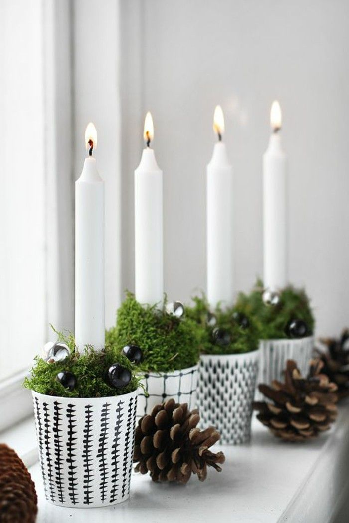 Christmas decorations ideas Scandinavian work advent wreath