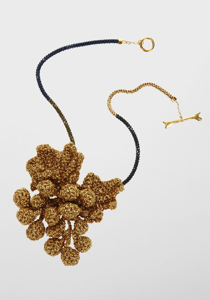 Lucy Folk presents FEAST - NH: Fall 12 / SH: Spring/Summer 12 - GOLDEN GRAPEVINE FEAST NECKLACE
