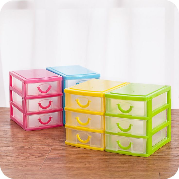 Latest plastic desktop storage box with 2 and 3 layers drawers storage organizer for sundries cosmetics jewelry office home use