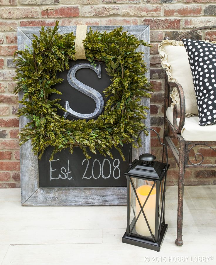 Wreaths don't have to hang on the front door, and they don't have to be round…