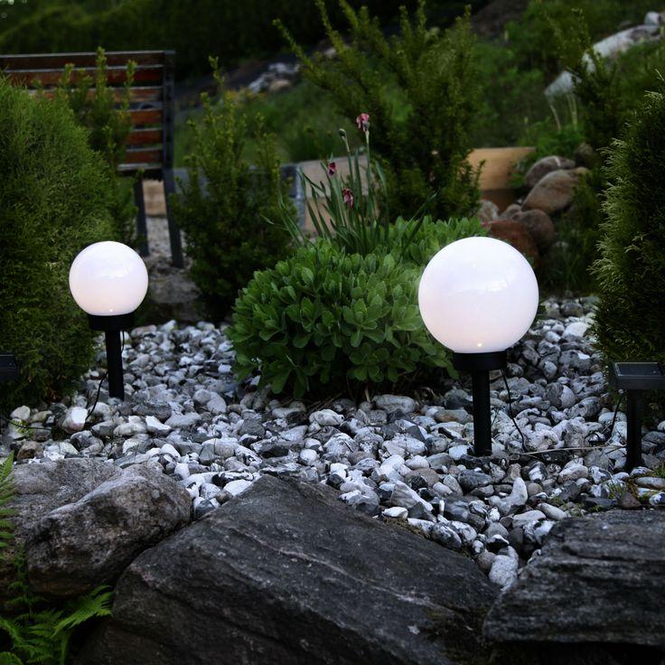 superbe eclairage exterieur boule lumineuse 12 les. Black Bedroom Furniture Sets. Home Design Ideas