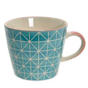 Carolyn Donnelly Eclectic   BLACK Carolyn Donnelly Eclectic Geometric Cup    Dunnes Stores