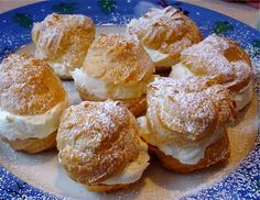 Schmidt's knock-off cream puffs.  The puff recipe sucked because it was too sticky to handle, but oh my god, the filling! DELICIOUS!  A hit with my whole family!