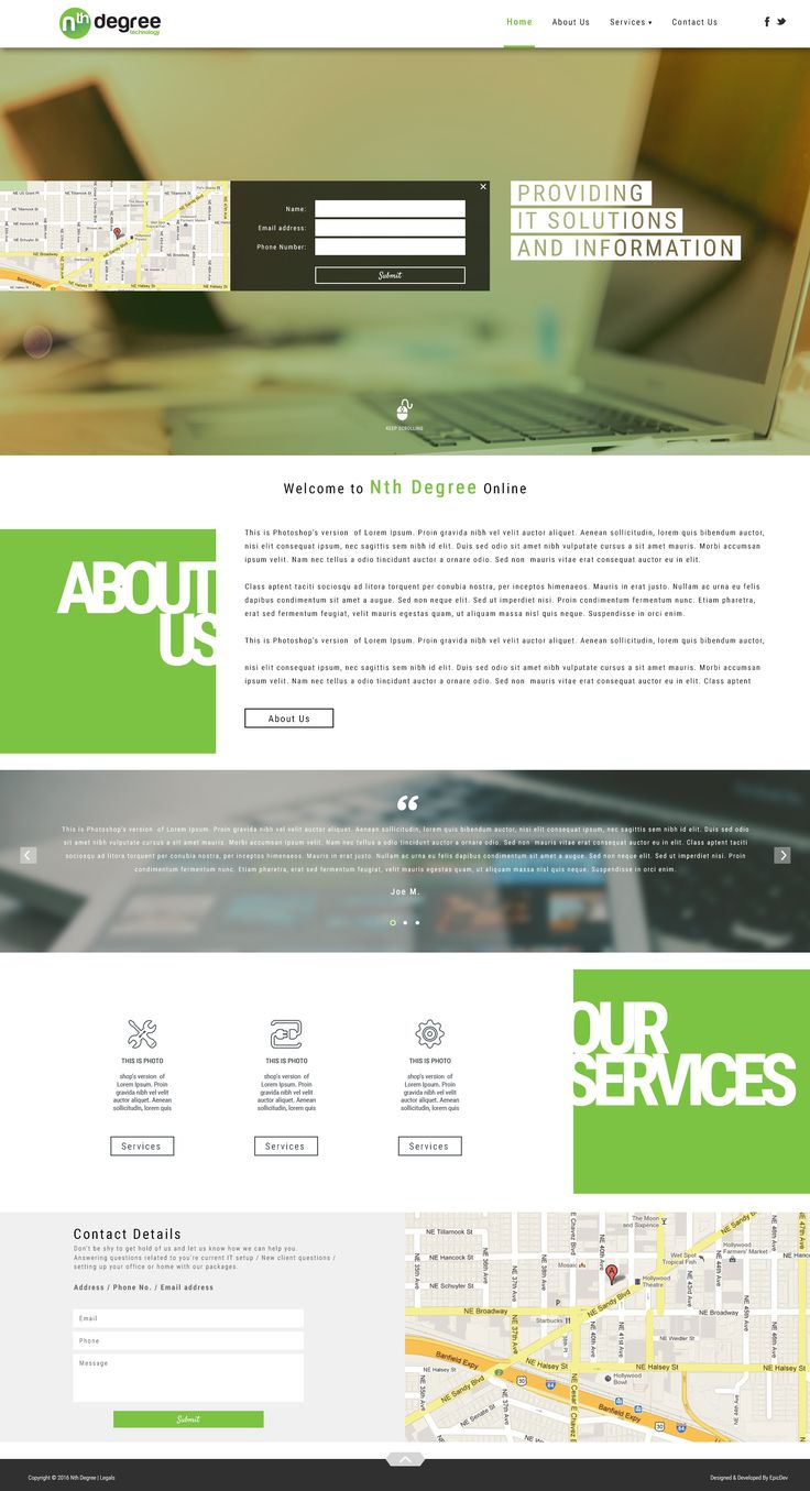 This is a great user-friendly concept web design for Nth Degree. Wanna see more of our work? http://epicdev.co.za/