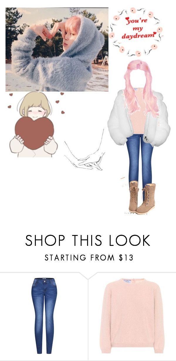 """""""Im still warm with you even when its cold."""" by xxkatelynn-lacolexx ❤ liked on Polyvore featuring Dreamgirl, 2LUV and Prada"""