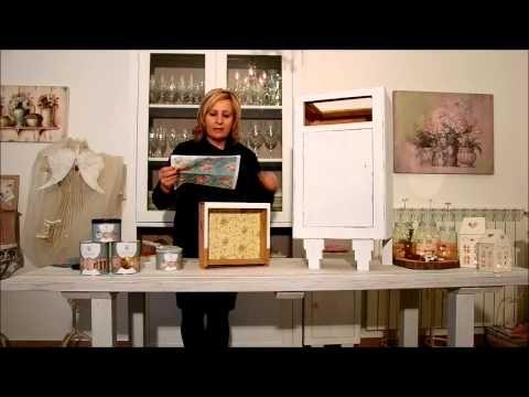 Come shabbare un mobile passo passo e trasferire un'immagine su legno (VIDEO)