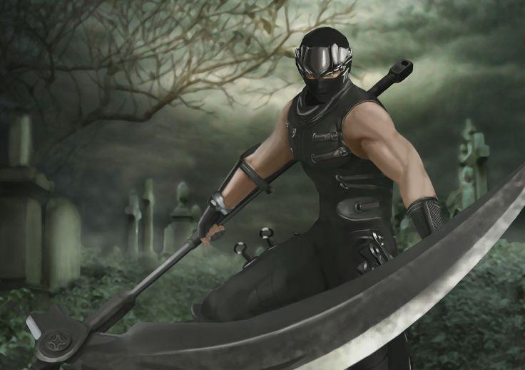 Ryu Ninja Gaiden - Digital Painting, Tan Bo Nian on ArtStation at https://www.artstation.com/artwork/rz2LO