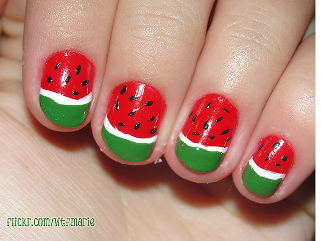 Watermelon nails - So cute for summer