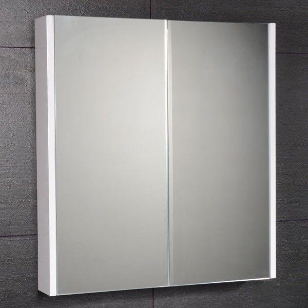 the windsor cuba aspen white slimline mirror cabinet in high gloss white is compatable with the aspen bathroom furniture range the windsor bathroom