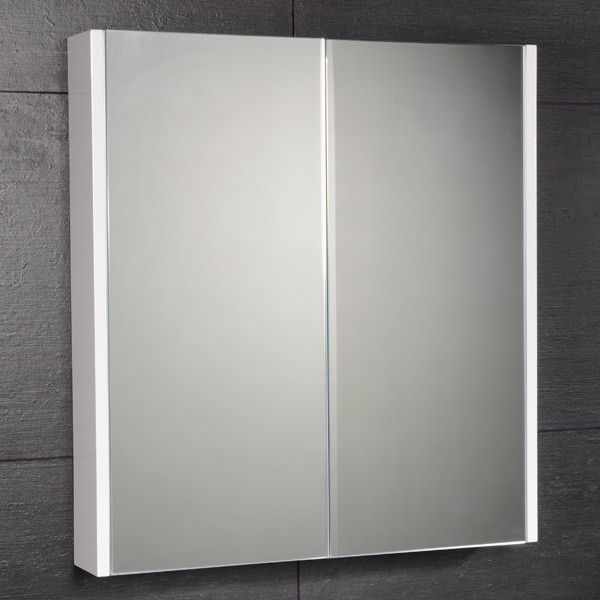 aspen 60cm 2 door white mirror cabinet product code 7063