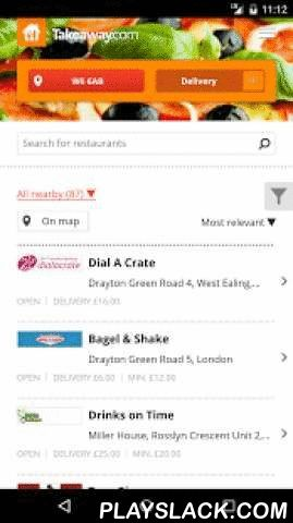 Takeaway.com - Order Food  Android App - playslack.com ,  Order food online with your Android smartphone or tablet using the Takeaway.com app. Super easy!Want to order a tasty pizza, salad, burger or kebab? Our app lets you order the best dishes from 5000+ restaurants accross England, including Tops Pizza, Papa John's, Dixy Chicken, Red Planet Pizza, Chicken Cottage and many more. Craving Chinese, Indian, Italian or Greek food? You'll be spoilt for choice! Restaurants usually take 30-45…