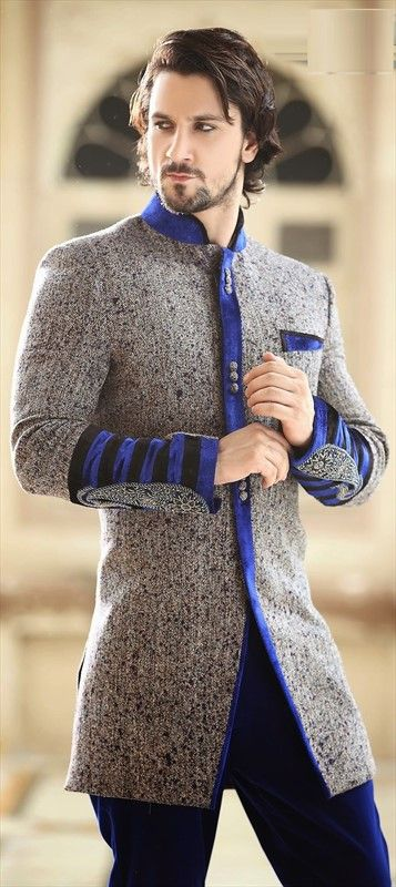 14468: DAPPER - this Indo western style for the groom and groomsmen is fantastic. #WeddingCouture #IndianFashion #groom