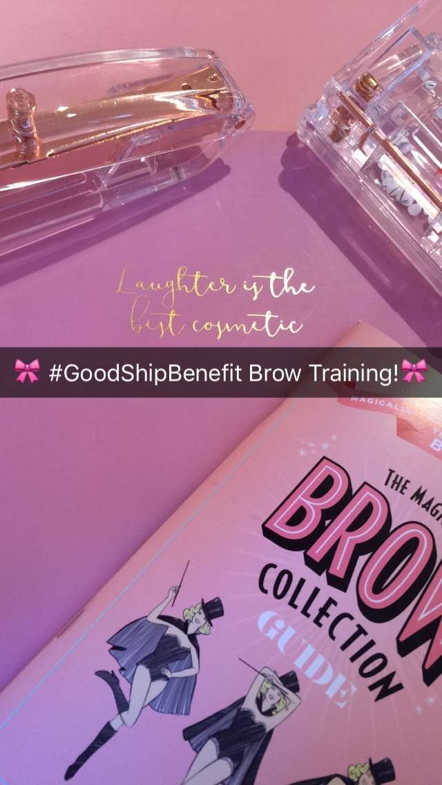 Today I am supporting the Benefit Uk Training team in all things brow..