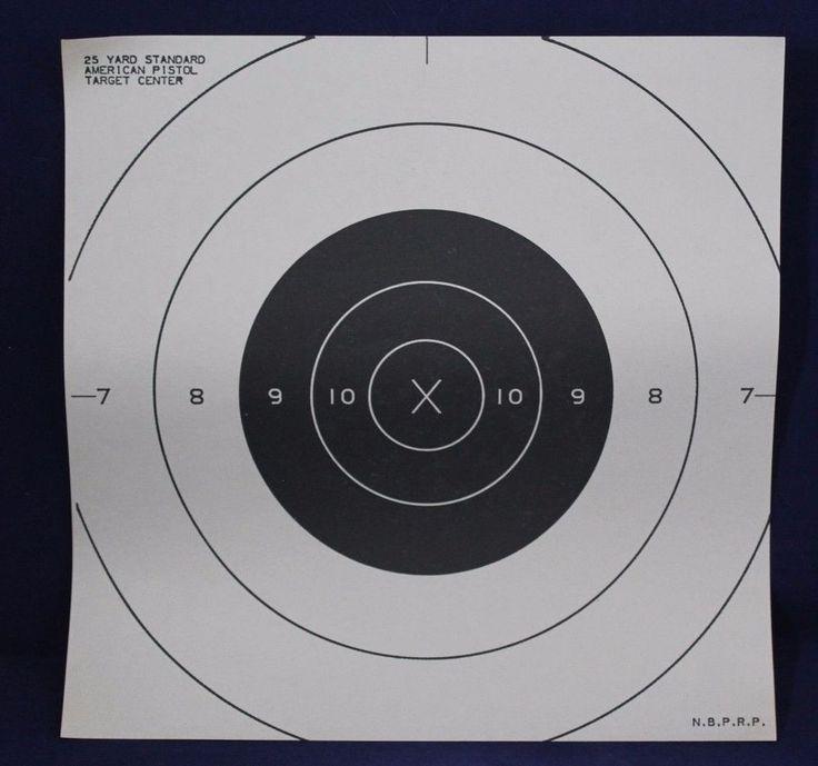 25 Yard Standard American Pistol Target Center 50pack or 10pack (NBPRP) #NBPRP