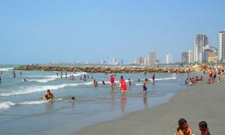 La plage de Bocagrande et de Laguito - Cartagena-Indias