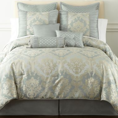 Home Expressions Candace 7 Pc Jacquard Comforter Set