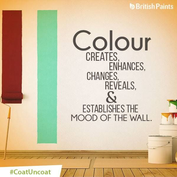 Every colour speaks the language of the wall. Wouldn't you agree? #CoatUncoat